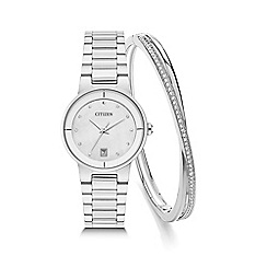Citizen - Ladies bracelet stainless steel watch with bangle eu6010-53d set