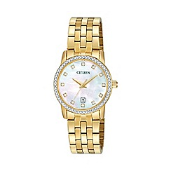 Citizen - Ladies Gold tone bracelet stainless steel watch EU6032-51D