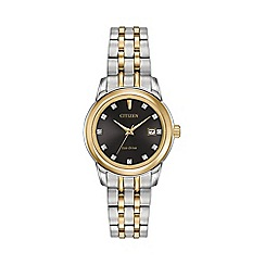 Citizen - Ladies Two tone bracelet stainless steel Eco-Drive watch EW2394-59E