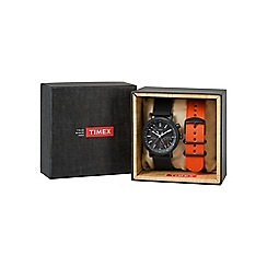 Timex - Men's Black Dial Metropolitan Gift Set Watch twg012600