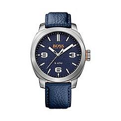 Boss Orange - Gents blue strap stainless steel watch 1513410