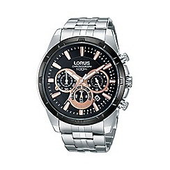 Lorus - Men's silver chronograph bracelet watch rt359bx9