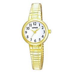 Lorus - Ladies gold round expandable watch rrs34tx9