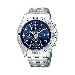 Pulsar - Men's blue chronograph dial bracelet watch pf8397x1
