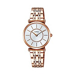 Lorus - Women's white dial dress bracelet watch rrw96ex9