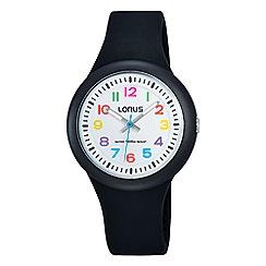 Lorus - Kid's analogue black strap watch rrx41ex9
