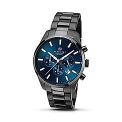 Accurist - Men's gun mental bracelet blue dial chronograph watch 7137.01