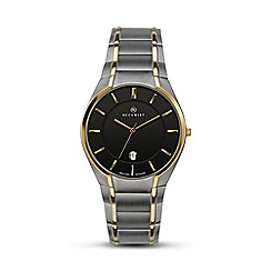 Accurist - Men's two-tone titanium bracelet black dial watch 7139.01