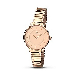 Accurist - Women's rose gold plated expander bracelet watch 8141.01