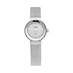 Skagen - Ladies silver faceted bezel watch 456sss