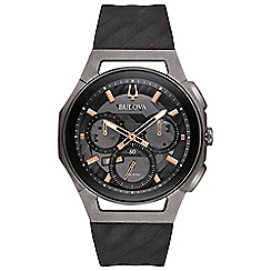 Bulova - Men's grey chronograph CURV Strap watch 98a162