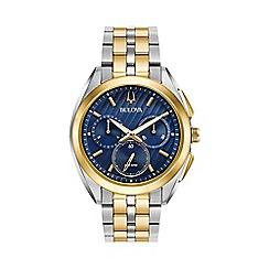 Bulova - Men's Two Tone Gold chronograph CURV bracelet watch 98a159
