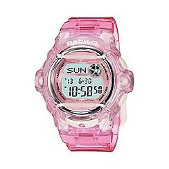 Casio - Ladies pink 'Baby G' world time digital watch bg-169r-4er