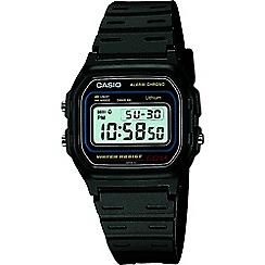 Casio - Unisex black 'Core' retro alarm watch w-59-1vqes