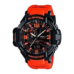Casio - Men's orange 'G Shock' premium chronograph watch ga-1000-4aer