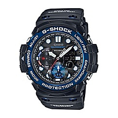 Casio - Men's black 'G Shock' premium Gulf Master with blue dial watch gn-1000b-1aer