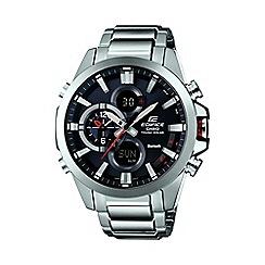 Casio - Men's silver 'Edifice' Bluetooth tough solar watch ecb-500d-1aer