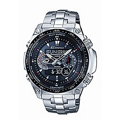 Casio - Men's silver 'Edifice' Chronograph radio controlled stainless steel watch ecw-m300edb-1ae