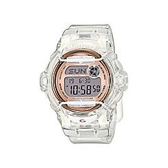 Casio - Ladies white 'Baby G' sporty world time digital watch bg-169g-7ber