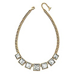 Fiorelli - Crystal and gold square statement necklace