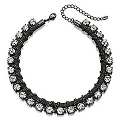 Fiorelli - Gunmetal chain and crystal necklace