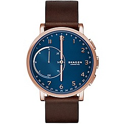 Skagen - Hagen Connected Rosegold & Leather Hybrid Smartwatch skt1103