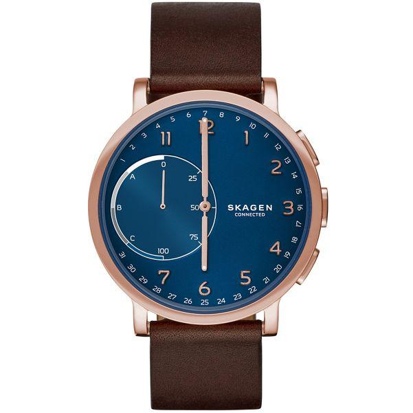 Skagen - Hagen Connected Rosegold & Leather Hybrid Smartwatch skt1103