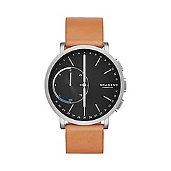 Skagen - Hagen Connected Titanium and Leather Hybrid Smartwatch skt1104