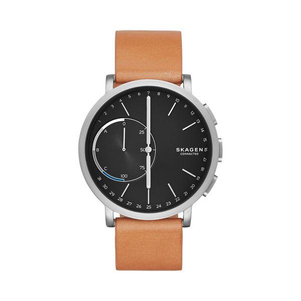 Skagen - Hagen Connected Titanium and Leather Hybrid Smartwatch skt1104