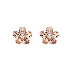 Hot Diamonds - Rose gold plated daisy earrings