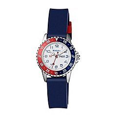 Tikkers - Blue silicone strap time teacher watch