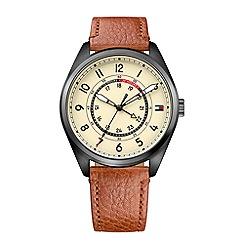 Tommy Hilfiger - Men's tan leather strap watch