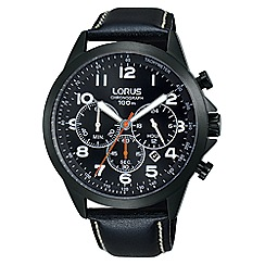 Lorus - Men's sports chronograph leather strap watch