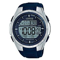 Lorus - Unisex blue silicone strap digital watch