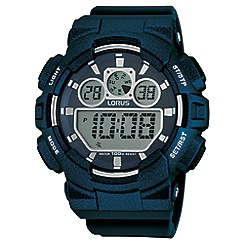 Lorus - Unisex black polyurethane strap digital watch