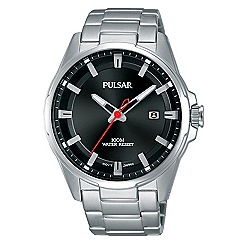Pulsar - Gents sport black dial bracelet watch