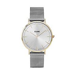 Cluse - Ladies' gold and silver 'la boheme' mesh strap watch