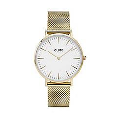 Cluse - Ladies' gold 'la boheme' mesh strap watch
