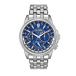 Citizen - Men's silver world time bracelet watch