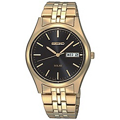 Seiko - Men's solar day/date watch