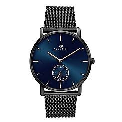 Accurist - Men's ionic dark grey plated bracelet watch