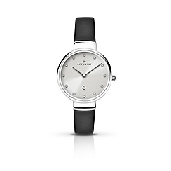 Accurist - Ladies stainless steel leather watch
