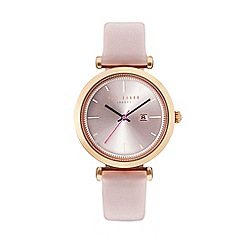 Ted Baker - Ladies pink leather strap watch