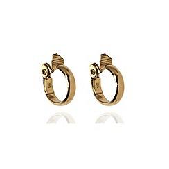 Anne Klein - Gold tone large hoop earrings