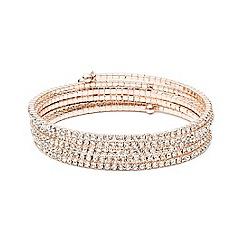 Anne Klein - Rose gold tone multi row crystal stone bracelet