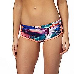 Mantaray - Multi-coloured floral print bikini shorts