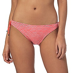 Beach Collection - Coral patterned tie side bikini bottoms