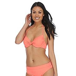 Beach Collection - Coral twist underwired bikini top