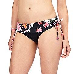 Gorgeous DD+ - Black floral print bikini bottoms