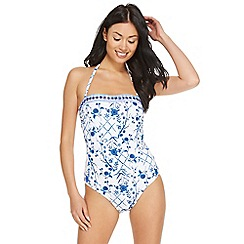 Reger by Janet Reger - White floral print swimsuit